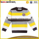 2016 new fashionable custom stripe pullover kid sweater design for boys