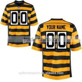 Black and yellow morden striped American football jersey