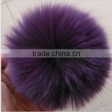 Real Genuine Fox Fur Ball Keychain Or Buttons Dyeing Fox Fur Pom Poms