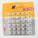 OEM service Button battery supplier blister packing: 1.5V 24pcs LR621 LR41 LR626 LR754 LR431 LR44