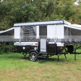 Small Mini Korea Camping Trailer for Camping With Camping Trailer kitchen and other accessories by Manufacture Kindle