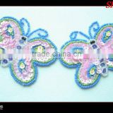 Sequin butterfly applique/sequin patches /sequin patches design motif for dress/clothing/girls