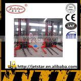 china battery operated fork lift pallet wide leg heavy duty stacker