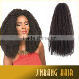 Wholesale lowest price long life 18inch soft silky marley braid afro kinky twist braid hair extension