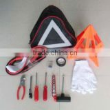 car emergency tool kit with warning triangle ,emergency car care kit