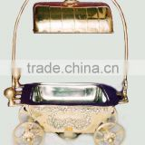 Brass Chafing dish with carraige, buffet service, restaurant supplies, catering supplies