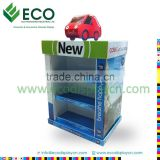 Easy Assmble Cardboard Pallet Display for Toy Car Display Case, Double Sided LCD Display