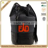 CSLRB287-001 OEM/ODM Men Real Leather, Canvas combined Travelling Chest Crossbody Bucket Bag