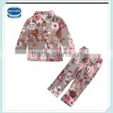 2-8Y (F3675) Nova kids garment autumn high quality printed flower baby outwear clothing sets