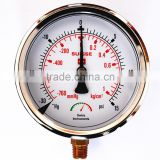 high quality water pump pressure gauge compressor pressure gauge from ningbo zend factory