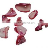 Sea Shell Beads, Dyed, Cerise, about 9~21x11~13x5~11mm, hole: 2mm, about 700pcs/500g(BSHE-S003-10)