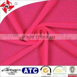 Chuangwei Textile good quality nylon spandex rose red bubble mesh sports shorts lining fabric