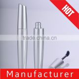Wholesale spray silver plastic mascara tube with applicator