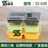 square 3compartment disposable plastic food container with clear lid, microwave safe ,FDA approval,LFGB approval