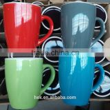12oz two tone solid color mugs