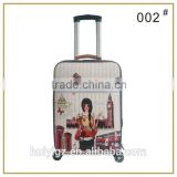 Big brand design hot sale polycarbonate PC travel trolley luggage on sale