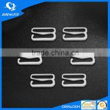 Metal adjuster silver strap buckle bra hook wholesale garment accessories supplier
