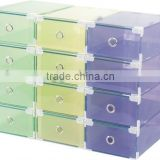 Desk drawer storage boxes| pp foldable storage box|clear shoes box with printing with colorfull