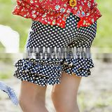 Beach style baby bloomers polka dot ruffle wholesale boutique clothing china wholesale girls ruffle shorts