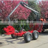 High quality ZM1002 1 ton ATV Log loading trailer with crane for sale
