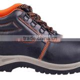 mid cut type cheap industrial brand safety steel toe shoes for men protective footwear black leather safety boots