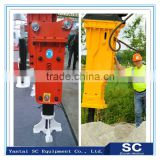 Rod 135mm excavator hydraulic rock breaker with accumulator
