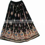 WHOLESALE LOT GYPSY BOHEMIAN SPRING SUMMER LONG SKIRT WITH SEQUINS