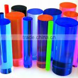 color raw material polished cylinder crystal sheets material glass quartz rods block (R-2000)