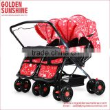 Double Baby Stroller|Baby Carriage|Pram|Pushchair|Baby Trolley with Great Quality