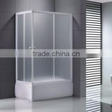 High Quality 5mm Pear Glass Shower Enclosure With White Aluminum Alloy Frame K-506L/R