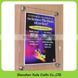 Wholesale clear slatwall acrylic sign holder, hanging plexiglass poster menu display rack