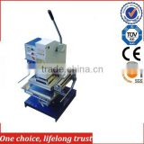 TJ-30 2015 China new cheap manual hot foil stamping embossing machine for leather Wine Packaging box