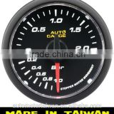 52mm simple type white LED / clear lens boost gauge/w/sensor