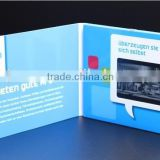 Hot sale 4.3 inch blue picture video lcd business card video brochure for advertising