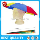 Top Quality Logo Printed Outdoor Umbrella Cap,umbrella hat,head umbrella
