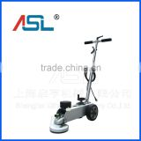 Concrete floor corner polishing and cleaning machine
