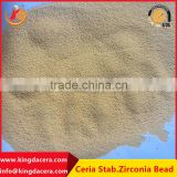 High Hardness ceramic abrasives beads/ Ceria Stable Zirconia Beads For Grinding And Dispersing