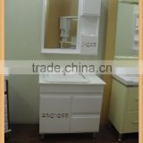HZ manufacture supply floor standing style pvc / wooden modern bathroom mirrored cabinet