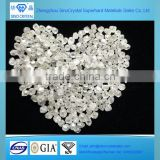 0.5carat lab grown white rough uncut synthetic CVD diamond for sale