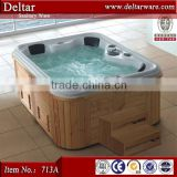 whirlpool swim spa mini hot tub, air jet massage spa outdoor hot tub, four person square nice bathtub