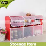 dustproof red plastic shoe rack with lid,6 cube brogan + 3 cube boot waterproof plastic shoe rack