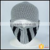 beanies custom factory knight helmet hat free knitted pattern wholesale