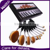 9pcs Golf Pro Cosmetic Makeup Brush Professional Kit makeup brushes with black