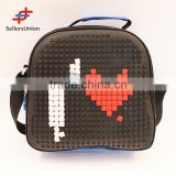 2017 No.1 Yiwu commission agents wanted Best price heart bump lunch bag/insulated lunch bag