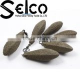 China wholesales various weights Coated Anti Roll Distance Carp Lead carp fishing weights
