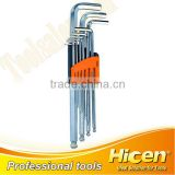 9pcs Ball Point Long Arm Hex Key Set