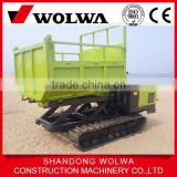 wet place used track transporter truck with load weight 3 ton
