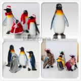 fiberglass penguin statue for Christmas decoration display
