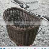 factory supply graceful brown wicker bicycle basket