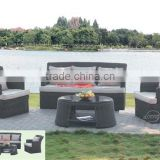 Alibaba outdoor furniture rattan wicker patio sofa set with waterproof cushion home sofa